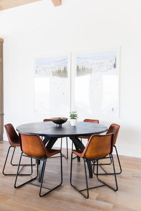 Decoración mesa redonda