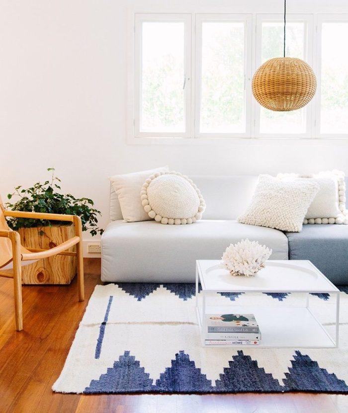 Decoración alfombras y cojines pampa